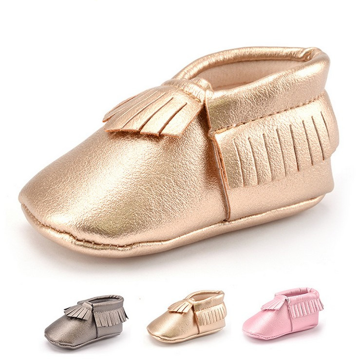 Hot Sell Baby Kids Slip-On Shoes Boys Girls Tassel Moccasins Soft Leather 3 Colors Babys First Walker Cute Shoes Q0585