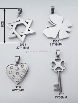 Stainless Steel Charm Pendant