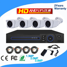 Cheap 4 camera CCTV kit, 4.0 megapixel digital cameras and DVR ahd camera kit manufacture