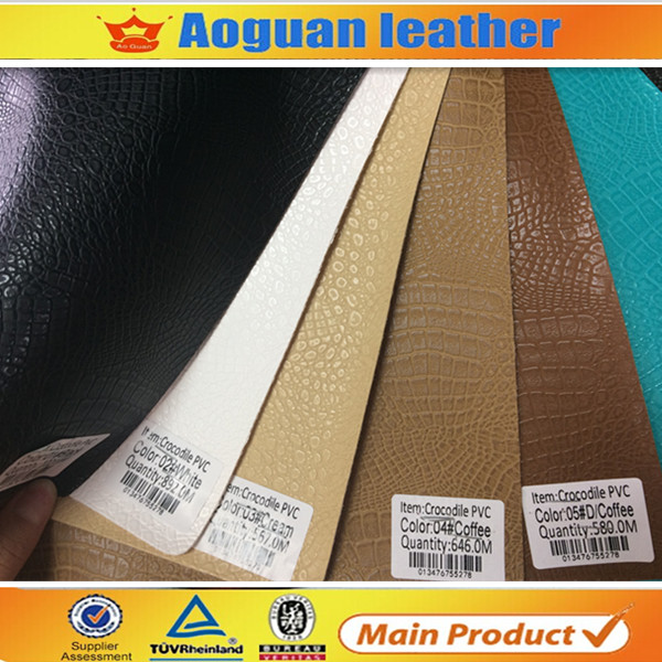 Very good quality crocodile embossed pvc synthetic leather for sofa and fashion bags
