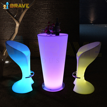 Modern Led Bar Table / Plastic Led Cocktail Table / Led Furniture