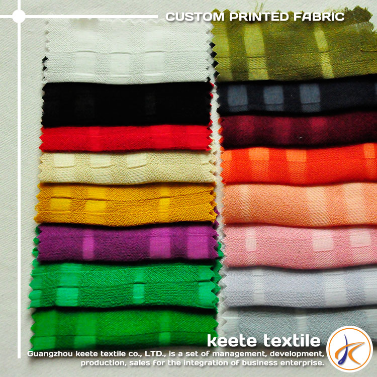 145gsm 100% rayon plain striped printed georgette fabric wholesale