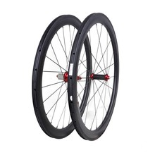 Entry Level 25mm Width 50mm Depth Clincher Carbon Wheelset
