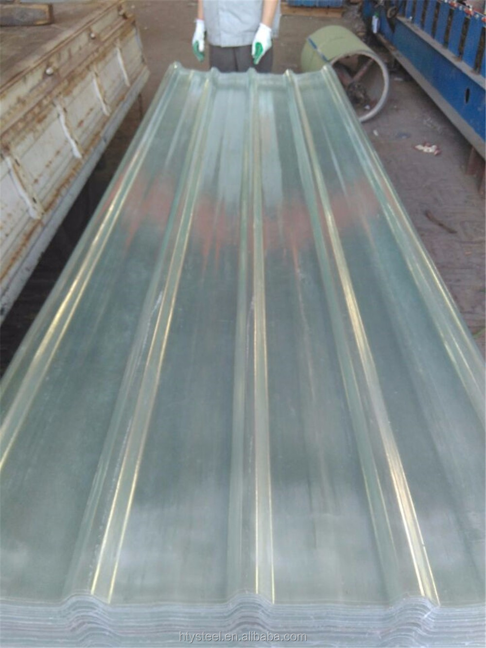 polycarbonate transparent corrugated plastic roofing sheet