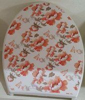 European standard top fixed printed toilet seat
