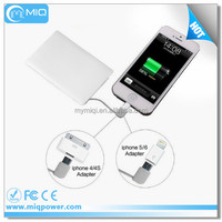 MIQ mobile phone travel charger rechargeable external battery charger mobile phone