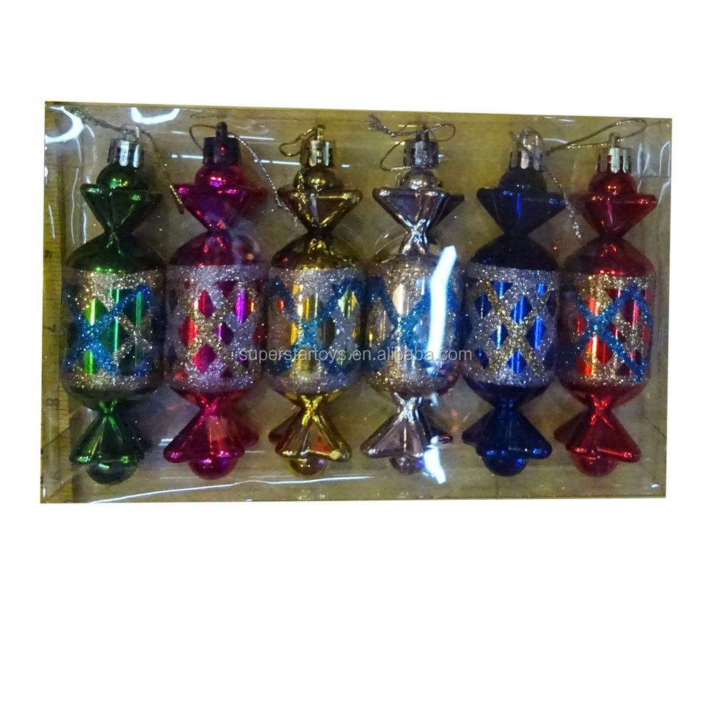 3160825-35-1 Xmas tree decoration accessories plastic colorful candy