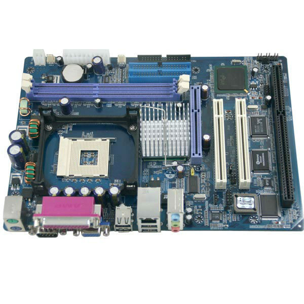 Plastic INTEL 845GV with ISA Slot MB pci controller card 2 ISA