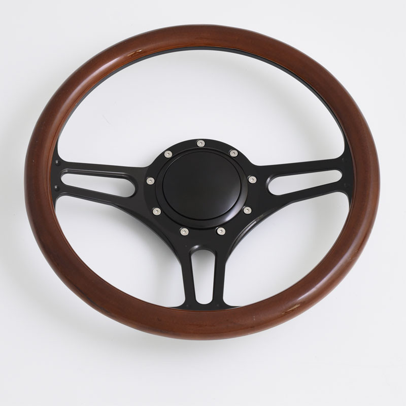 China 14 inch billet steering wheels half wrap replacement Starfire 88 98 with horn button