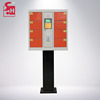 Solar Power/Electronics Charging Mobile Phone Station Cell Phone Charging Kiosk With Standing Coin Operated