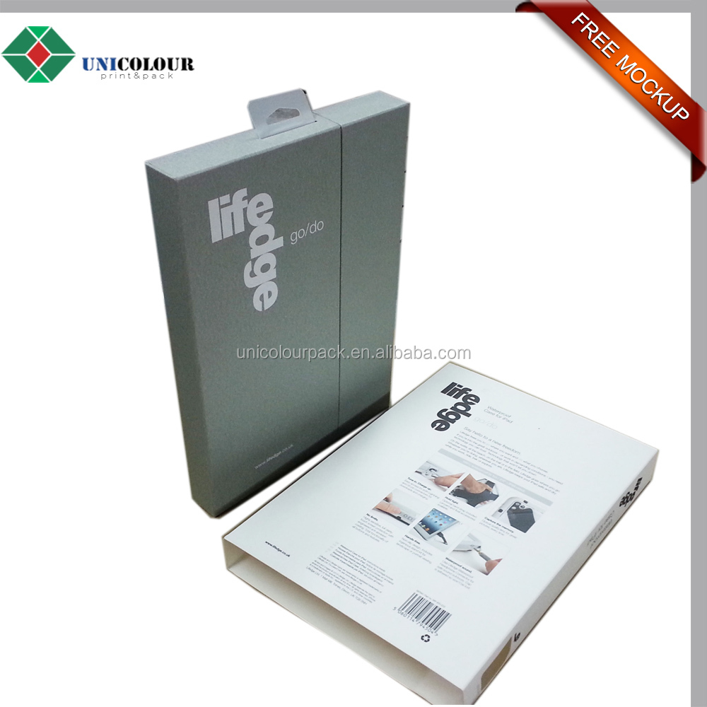 custom made waterproof cardboard ipad box , paper packaging box for ipad case