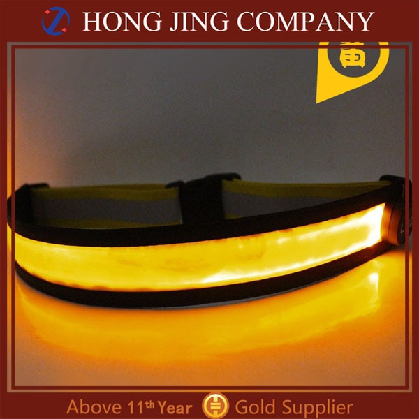 polyester material and unisex gender running belt with led light