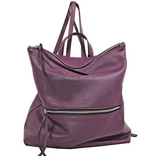 online shop guangzhou wholesale made in china HD27-003 leather ladies fashion bag purple backpack hobo bag ladies
