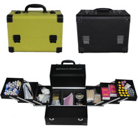 Hot sale aluminum cosmetic case with trays