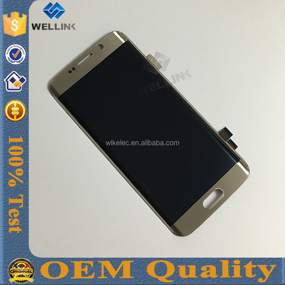 Newest for samsung galaxy s7 edge lcd gold display screen digitizer assembly