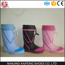 exquisite workmanship light weight children transparent rubber boots