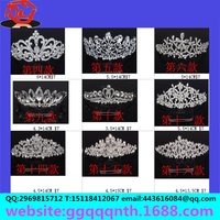 Manufacturers wholesale fashion silver metal plastic princess king bridal tiara wedding hair crown for sale OEM&ODM
