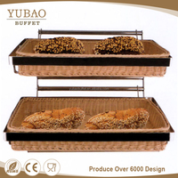 2 tier bamboo fruit bread display wire hanger for hanging rattan basket malaysia