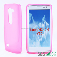 best price best quality smart clear TPU phone case for lg leon soft cover