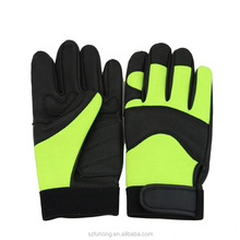 genuine deerskin leather gloves safety softtextile motorcycle glove