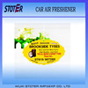 Print custom logo promotional car air freshner with ocean flavour