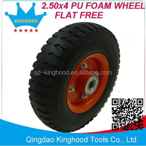 2.50x4 Steel CENTRE PU Foam Wheel