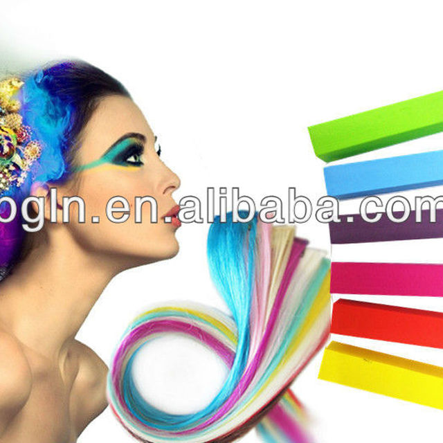 6colors set professional temporary hair chalk instantly change the hair color