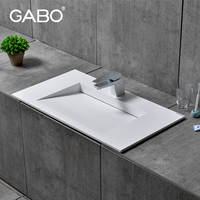 Artificial stone bathroom countertops with built in sink