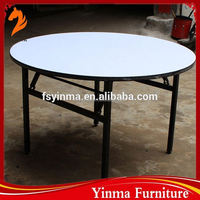 2015 factory price folding plywood oval hotel banquet table