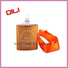 Laser finish stainless steel hip flask with painting