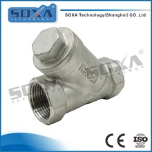 1 inch food grade Stainless Steel Female Threaded Y type pressure relief valve