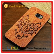 [UPO] Laser Engraving Blank Custom Design Shockproof Cell Phone Case For Samsung S7 Edge Real Wood Case