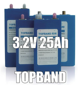 Topband 3.2V 50Ah rechargeable lithium single battery cell