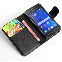 Hot selling leather case for samsung galaxy young 2 G130 case lychee design