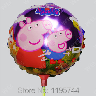 20Pcs/Lot, , 8.5 inch Round Baby Balloon With Stick, Baby Shower Foil Balloon, Party/Birthday/Wedding Decorations.
