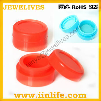 Food grade silicone jars dab wax container for oil