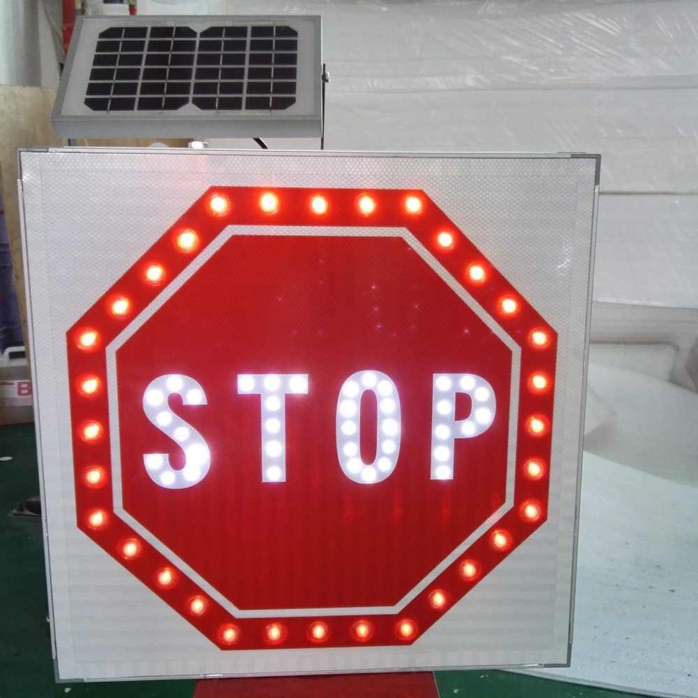road safety high visibility reflective solar led road traffic sign, traffic signal