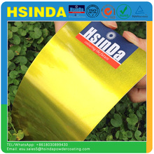 High bright Candy Gold Yellow Hybrid Transparent Powder Coating
