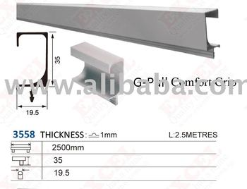 Aluminium Aluminum Profile Handle 2500 mm