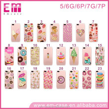 OEM tpu donuts design phone cover case for iphone 5 6 6plus 7 7plus,for iphone 5 6 6plus 7 7plus transparent tpu case
