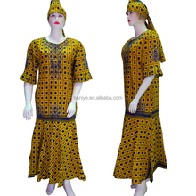 New african wax print lady dress design ankara wax dresses