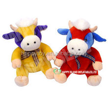 HI EN71 funny cow plush toys stuffed standing cow toys for 3 year old kids