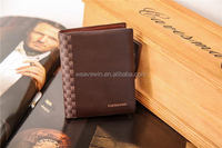 Fashion cheap Genuine leather Men Fashion and trendy folio wallet case