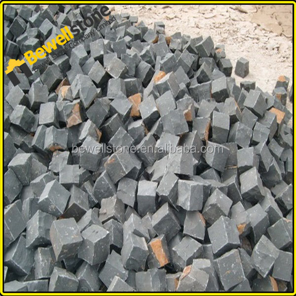 Chinese Cheap Black Granite Cobble for Car Parking Area Flooring