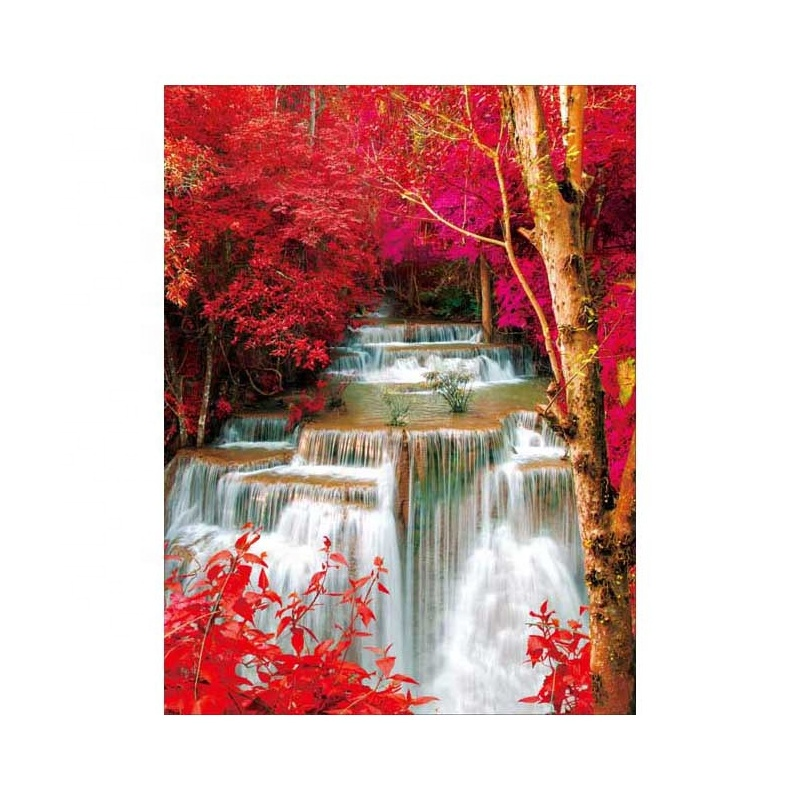 Wonderful 3D lenticular landscape picture with waterfall for home decoration