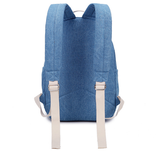 BSCI Audit School Boy Girls Travel Plain Denim Backpack Wholesale in China