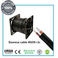 RG59 2c coaxial cable rg 59 + 2 core power for video camera CCTV CATV system CE RoHS ISO9001 approved