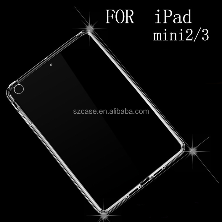 Transparent Case Cover Ultra-thin TPU Case Cell Phone Case for Ipad mini 2 / 3