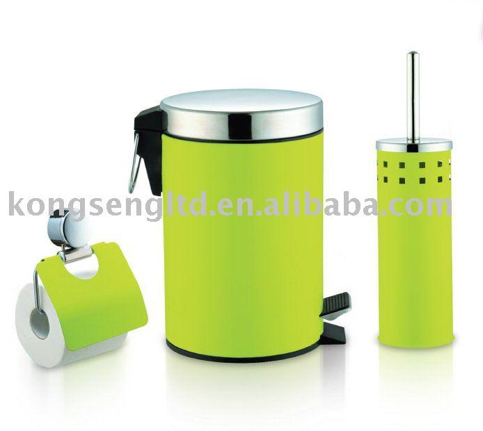 De color verde 3 unids juego de accesorios de ba o sets de for Accesorios bano verde