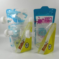 customized water plastic bag/stand up liquid packing container/laundry detergent pouch